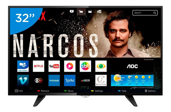 Smart Tv 32 Aoc 32s5295 Hd C Conversor 3 Hdmi 1 Usb Wifi