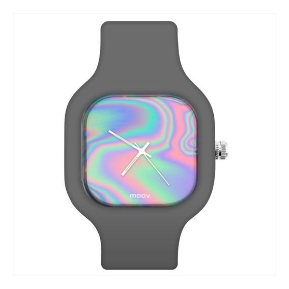 Relógio Troca Pulseira Personalizado Irisdescent