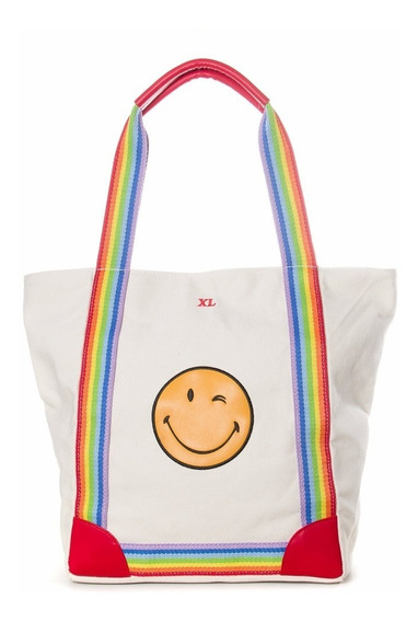 Smile Tote Hueso Carteras Xl Extra Large