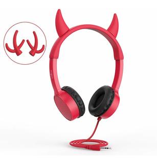Auriculares Sobre Oido Vojp6v . Audifonos Rojo