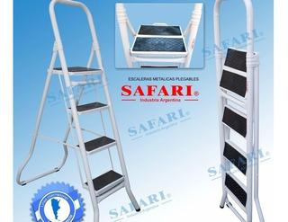 Escalera Premium Reforzada De Acero 7 Escalones Safari