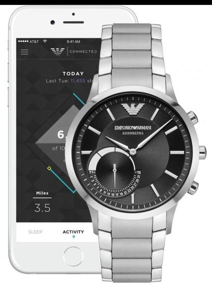 Relógio Emporio Armani Connected Hybrid Art3000 Smartwatch