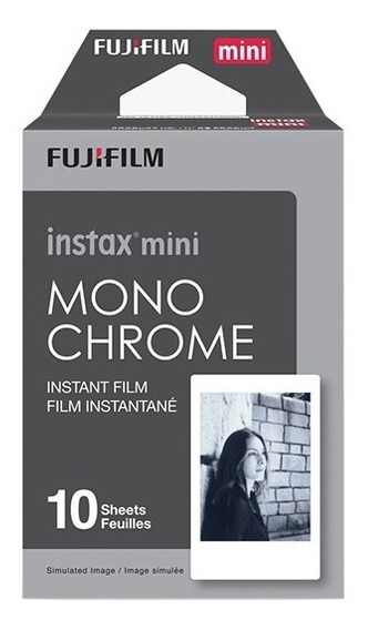 Filme Monochrome Instax Mini Preto E Branco Kit C/ 10 Fotos