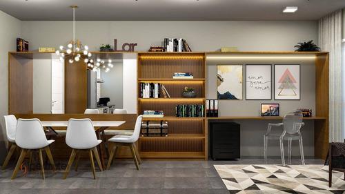 Apartamento Com 2 Dormitórios À Venda, 55 M²  - Moema Pássaros - São Paulo/sp - Ap1263