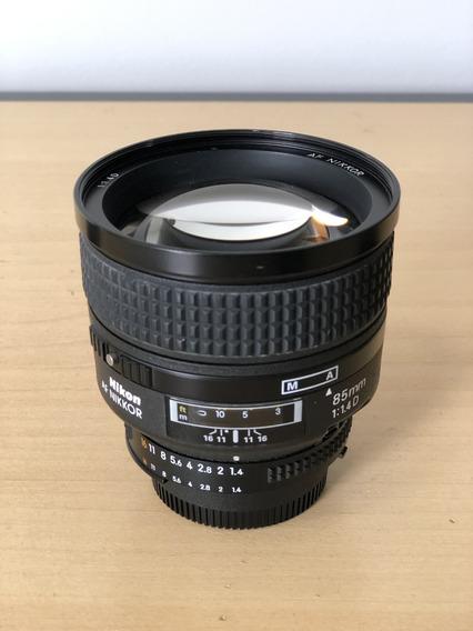 Nikon Af 85mm 85 Mm F / 1.4d If Nikkor