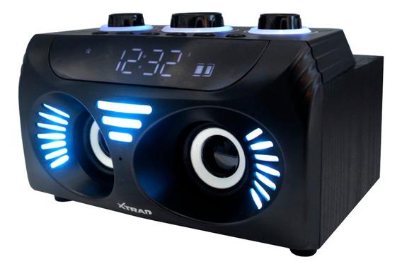 Caixa De Som Bluetooth Rádio Relógio Digital Fm Cart 65w Rms
