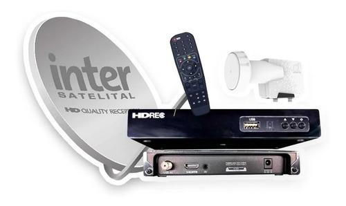 Kit Inter Tv Satelital Deco Antena Control Tienda Fisica