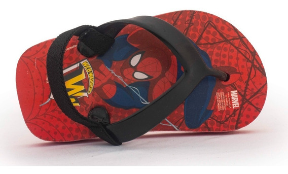 Sandalia Bebe Original Spiderman Hombre Araña 12-16 Envío Gr