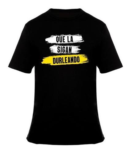 Remera Negra Durlock Oficial® -   Que La Sigan Durleando