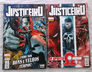 Hq Justiceiro - 1ª Série/panini Nº 1 E 2 148 Páginas
