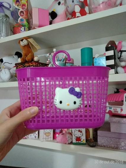 Cestinha Para Pregador Hello Kitty Branca Ou Lilás
