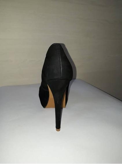 Sapato Peep Toe Bottero Meia Pata Preto
