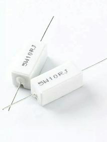 Kit 5 Resistor Cerâmica { Porcelana }10r -ohms- / 5w / 5%