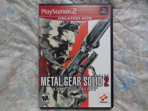 Metal Gear Solid 2 Sons Of Liberty Ps2 Americano Original