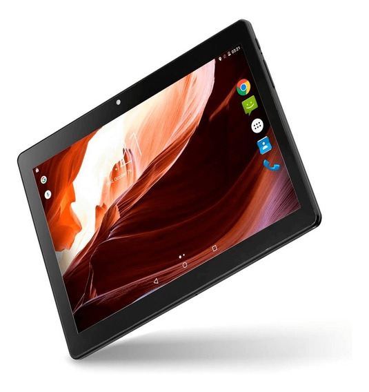 Tablet M10a Preto Quad Core Android 6.0 Dual Câmera 3g E Blu