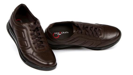Sapato Smart Comfort Air 360 Democrata 202102 Preto