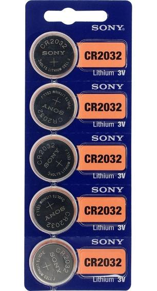 Bateria Sony Cr 2032 3v Lithium Cartela C/ 5 Unidades