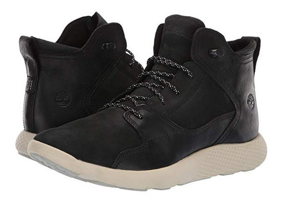 Bota Tenis Timberland Flyroam Mid Leather Hiker Preto Casual