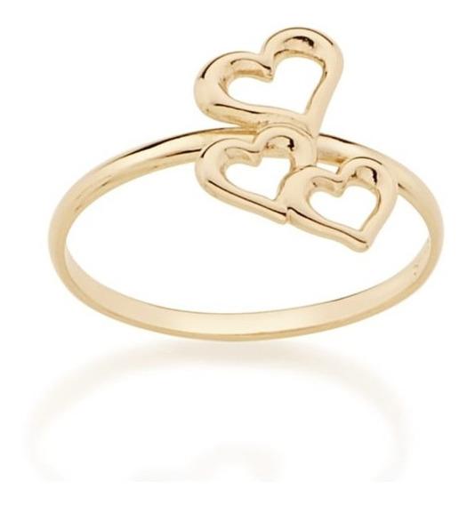 Anel Rommanel Skinny Ring Com Coraçoes Vazados 512736 Pará