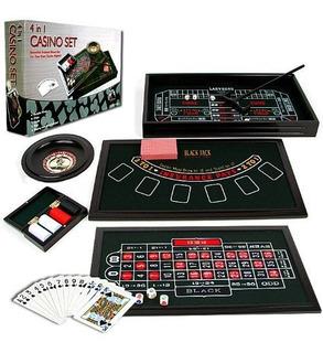 Tmg Mini 4 In 1 Casino Table Game Set - Play