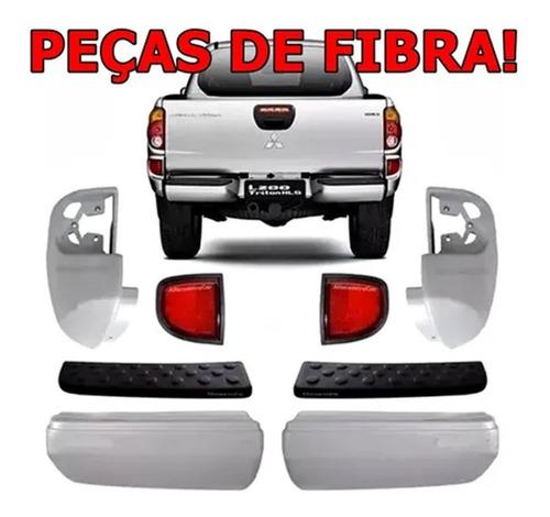 Kit Completo De Parachoque E Polaina Traseiro L200 Triton