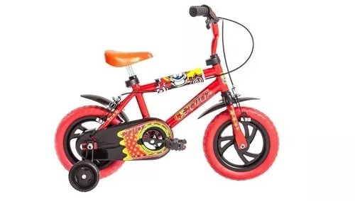 Bicicleta Bmx Halley Rodado 12 Para Nene 19020 Con Rueditas
