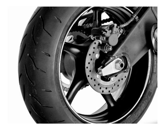 Adesivo Friso Fita Faixa Refletivo Roda Moto 5mm Branco