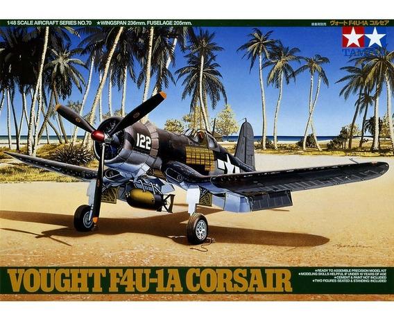 Kit Tamiya Avião Vought F4u-1a Corsair Ww2 1/48 - 61070