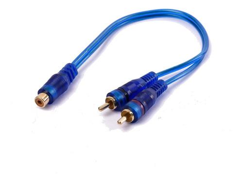 Imagen 1 de 6 de Cable Rca Derivador 1 Hembra 2 Macho 30cm Maverick Car Audio