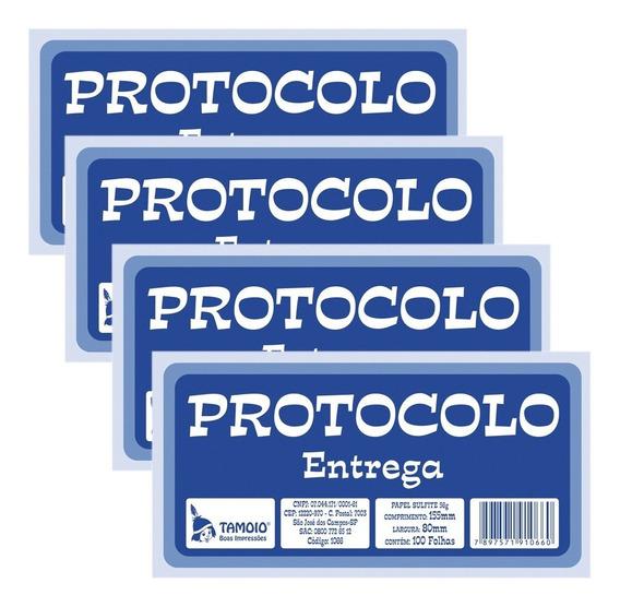 Protocolo De Entrega 155x80mm Com 100 Folhas Pt 20 - Tamoio