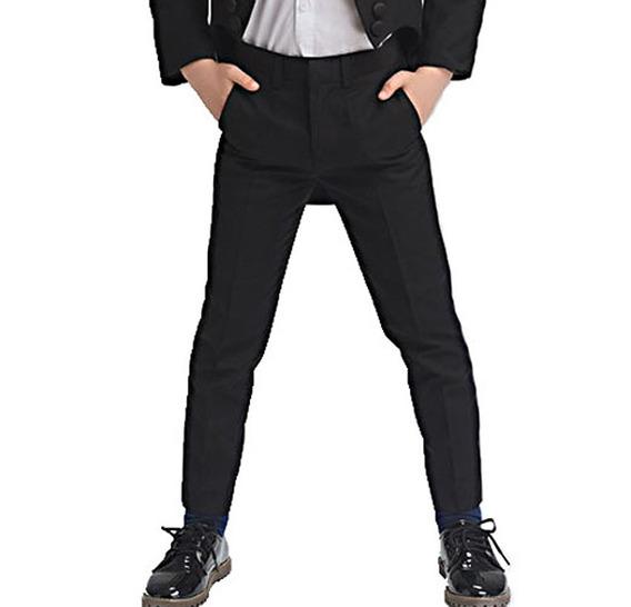 Pantalon De Vestir Chupin Niño Tela Saten! Varios Colores