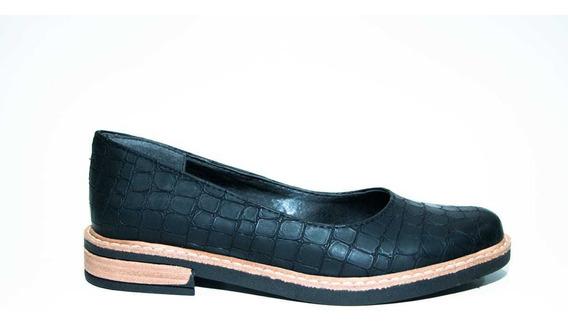 Zapato Clásico Mujer Bajoc/ Follia Croco Negro 801r
