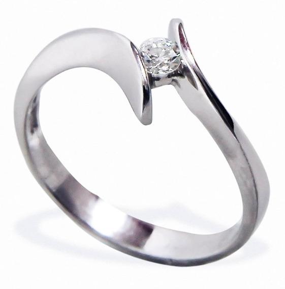 Anillo De Compromiso Dd10 Diamante Natural 10 Puntos Oro 14k