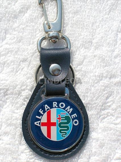 Lindo Chaveiro Couro Alfa Romeo 156 155 164 2300 Novo