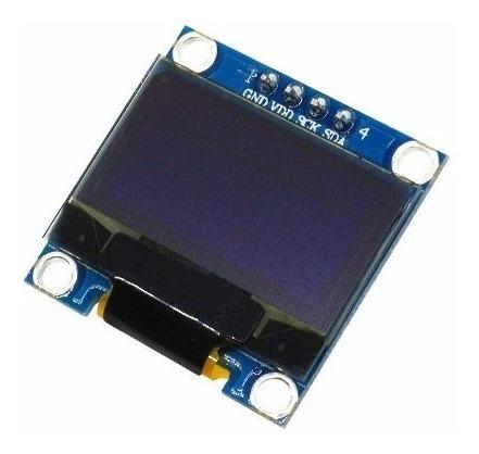 Módulo Display Oled 128x64 0.96 I2c Ssd1306 Azul Amarelo