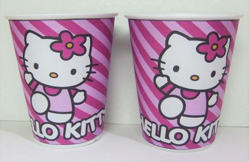 Imagen 1 de 4 de Vasos Hello Kitty, Plasticos Descartables!!!!