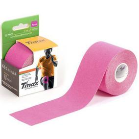 Kinésio Tmax Rosa Bandagem Elástica Terapêutica 5 Cm X 5 M