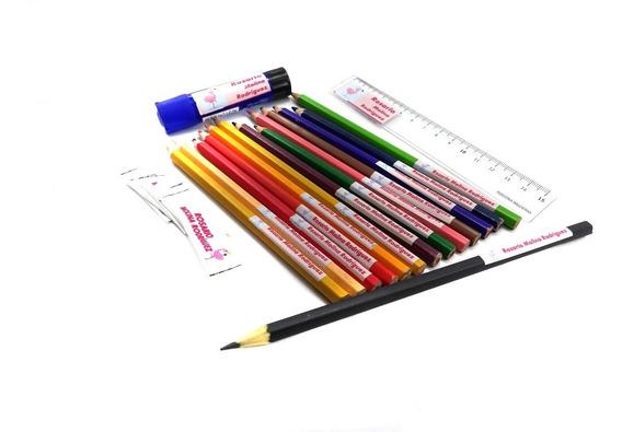 Etiquetas Escolares Personalizadas Adhesiva X48 + 24 Cintas