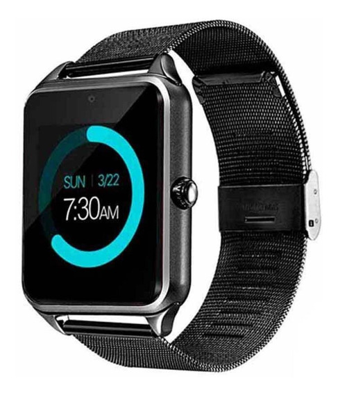 Smart Watch Z60 Reloj Inteligente Celular Metalico Sim Bt Sd