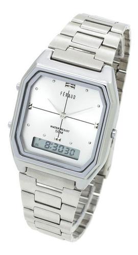 Reloj Feraud 5542 Analógico Digital Wr50 Metal Crono Alarma