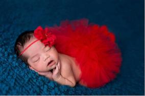 Kit Tutu - Várias Cores Newborn Saia + Faixa - Ensaio Bebê