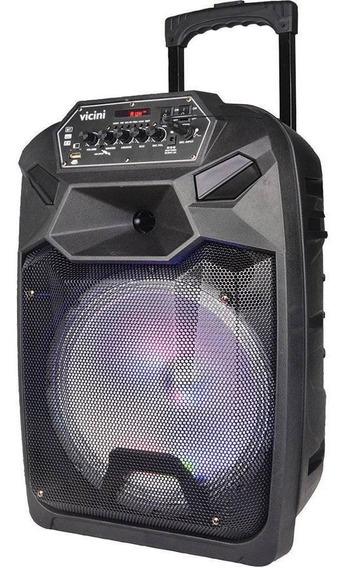 Caixa Acústica Com Rodinhas Vc-7302 300w Rms Com Bluetooth