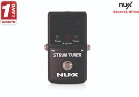 Pedal Afinador Nux Strum Tuner + Nf E Garantia 1 Ano