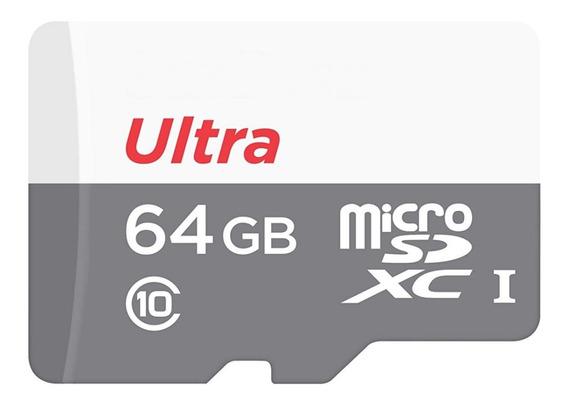 Cartão Micro Sdhc 64gb Ultra Sd Memória Classe Go Pro Hero 4