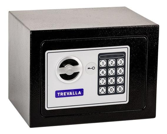 Cofre Eletrônico Digital Aço 17x23x17cm Com Senha E Chave