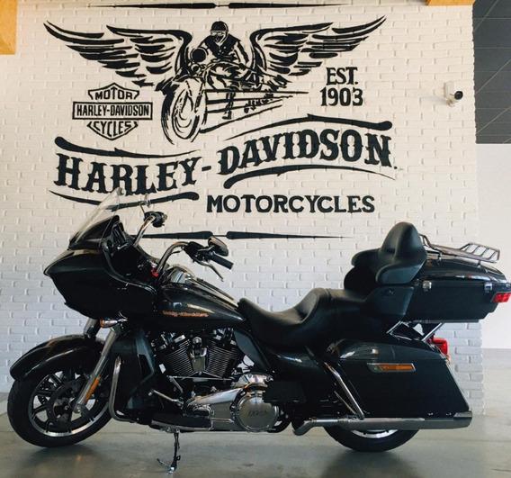 Harley-davidson Road Glide Ultra Cinza E Preto 2018/2019.