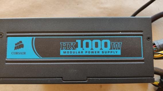 Fonte De Alimentação Psu Modular Corsair Hx 1000w 80 Plus