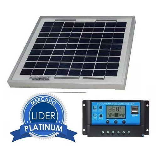 Kit Painel Controlador Placa Energia Solar Fotovoltaica 30 W