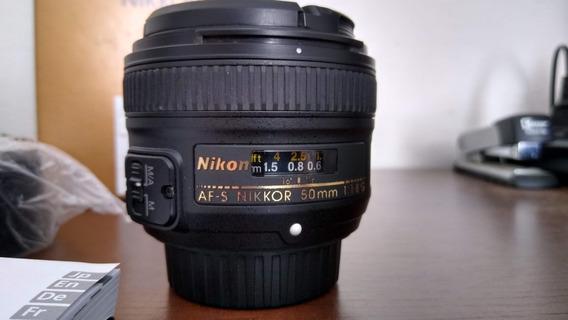 Lente Nikon Af-s Nikkor 50mm F 1.8 G (gratis Filtro Uv)