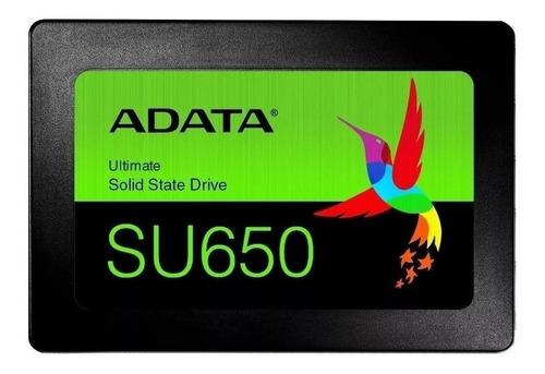 Disco sólido SSD interno Adata Ultimate SU650 ASU650SS-960GT-R 960GB negro